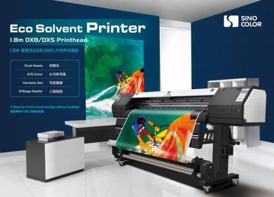 Factory Price 1.8m Epson Heads Banner Sticker Printer in Shanghai