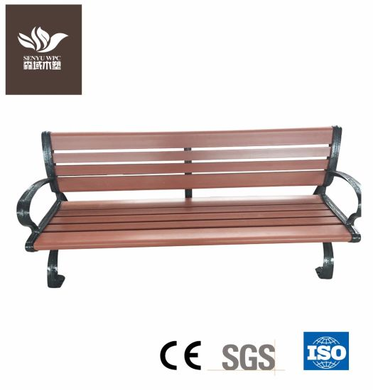 WPC Public Garden Furniture Waiting Bench for Long Time pictures & photos