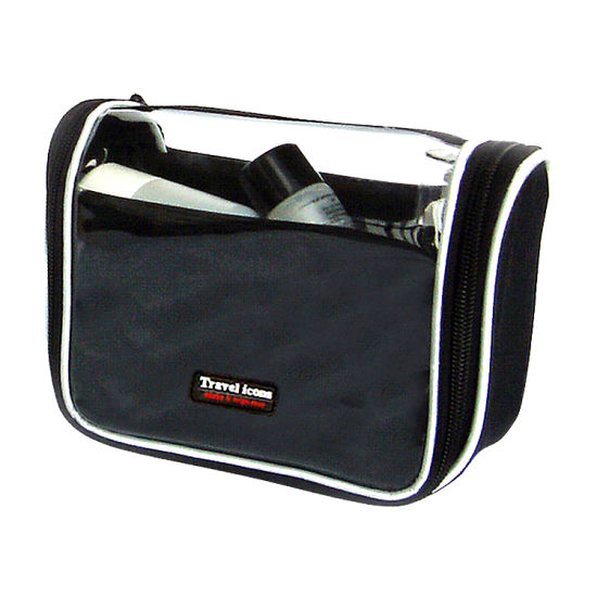 Attractive 600d Polyester+PE Foam Cosmetic Bag Clear pictures & photos