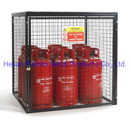 Welded Wire Mesh Gas Bottle Storage Cage.
