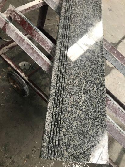 Polished Light Grey Granite G602 Stairs