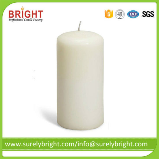 Point Top White Color for Prayer (P029) Pillar Church Candle
