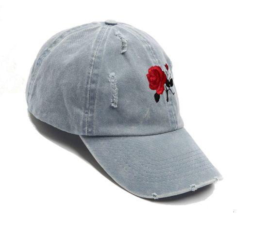 2fc9fceb Fashion Custom Rose Embroidery Distressed Dad Hat Washed Cotton Baseball Cap