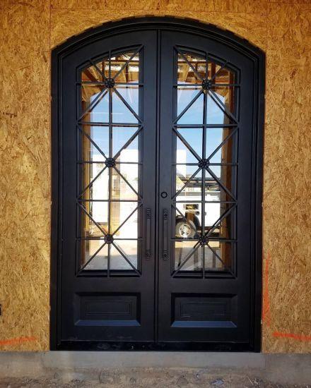 China Best Price Lowes New Wrought Iron Window Metal Door Designs Unique Security Door Designs