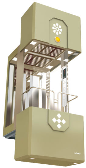 Observation Lift Glass Sightseeing Elvator From China