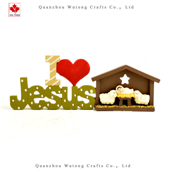 Wholesale Resin Crafts Religious Christ Jesus Sheep Home Decor