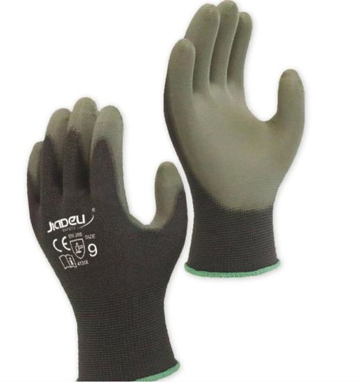 13G Screen Touch Glove with PU Coating on Palm