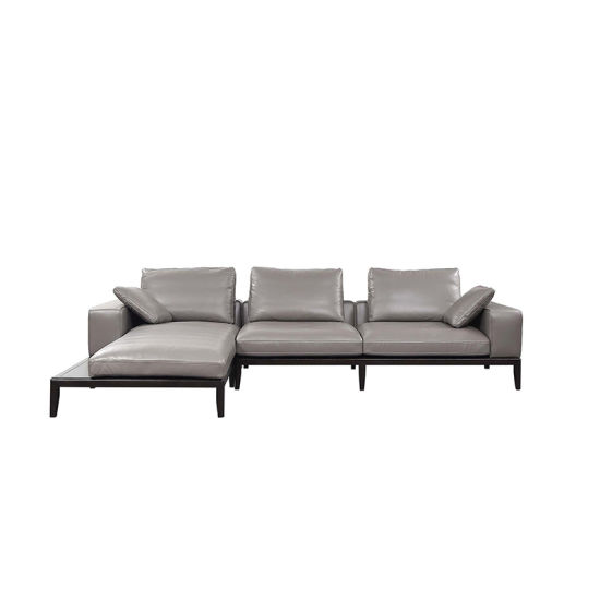 Light Grey Leather Futon Sofa Bed