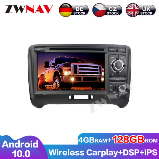 128g Carplay DSP Android Screen Player for Audi Tt 2006 2007 2008 2009 2010 2011 2012 2013 GPS Auto Audio Radio Stereo Head Unit