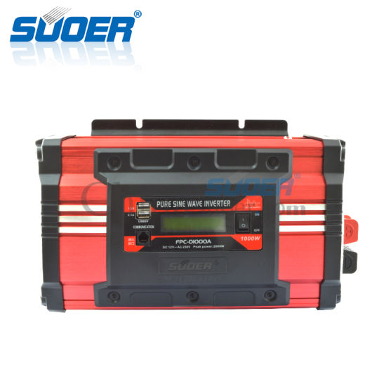 Suoer High Frequency 1000W 1500W Pure Sine Wave Inverter (FPC-D1000A) pictures & photos