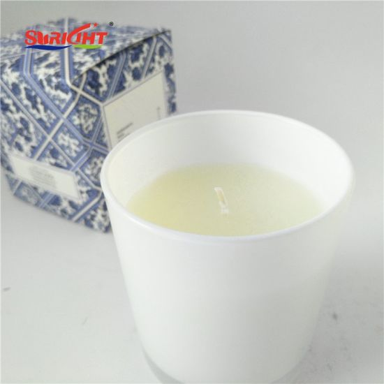 1PC Gift Box Luxury Glossy White Glass Tumbler Scented Soy with Private Logo pictures & photos