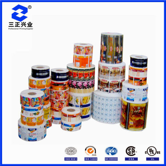 Custom Print Colorful Weather Resistant Glossy Rolled Self Adhesive Label