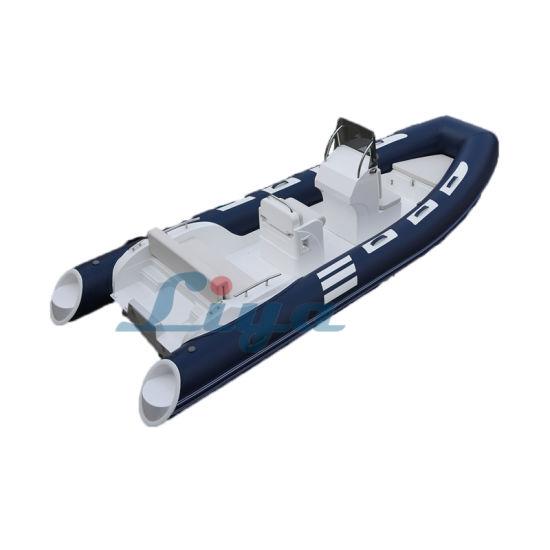 Liya 17 Feet Fiberglass Rigid Inflatable Boat Fishing Rib Boat
