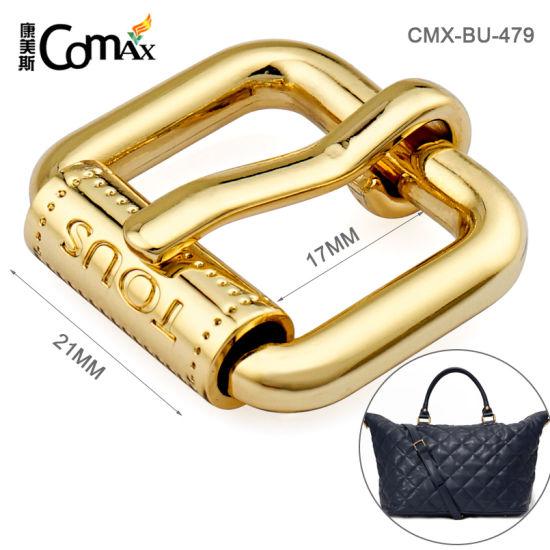 Metal Accessories for Handbags Iron Gold Roller Buckle, Custom Engraved Logo Roller Buckle for Bag/Belt