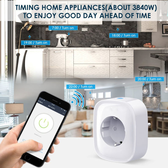Smarsecur WiFi Smart Socket EU Plug Remote Control Smart Timing Switch Work  for Tuya Smart Life