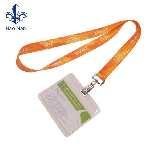 Cheap ID Card Holder Polyester Lanyard