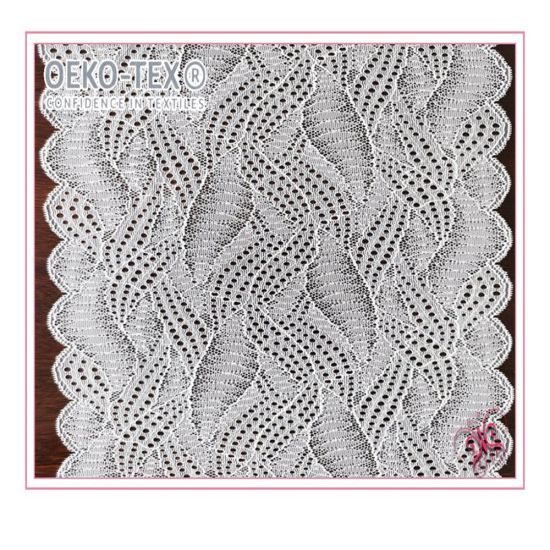 2020 New Geometry Stretch Gallon Lace for Underwear Lingerie Knitting Eyelet Fabric