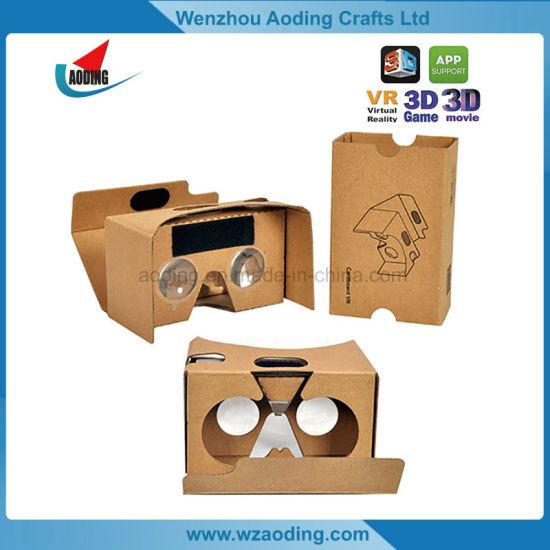 Custom Assembled Virtual Reality 3D Google Cardboard for Smartphone
