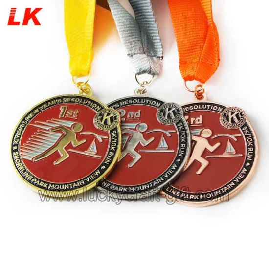 Design Die Casting Zinc Alloy Medal Custom with Ribbons pictures & photos