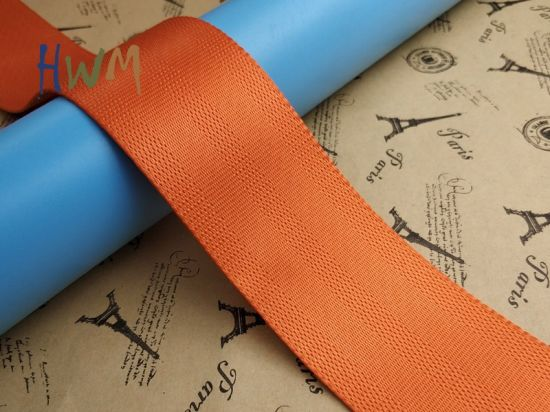 Orange Nylon/Polyester Seat Belt Webbing for Baby Carriage/Bassinet/Toy Car's Safety Belt