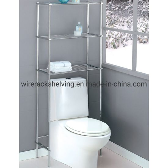 Bathroom Over Toilet Space Saver Wire Shelving China Metal Rack
