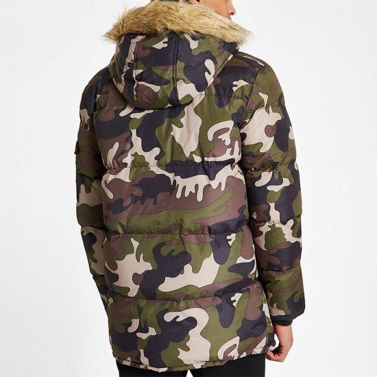 5e4fe45755d69 China Men Clothing Green Camo Puffer Winter Coat Jacket with Faux ...
