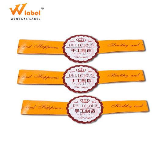 Custom Nature Material Printed Fashion Self Adhesive Kraft Seal Label for Honey Jars