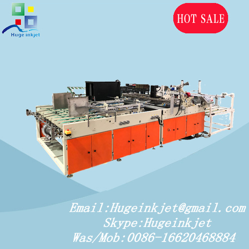 Corrugated Container Barcode Qrcode Inkjet Printing with Double Sides Adhesive Tape Machine
