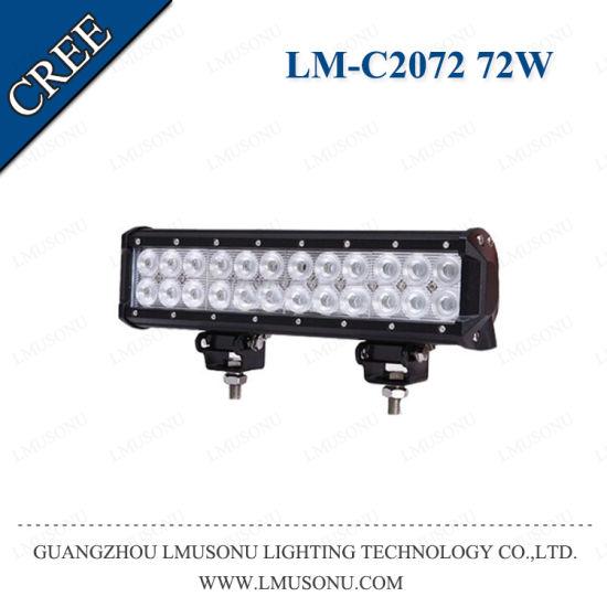 Lmusonu 12V 24V Spot Flood Combo Offroad Truck ATV LED Flood Light Bar 72W