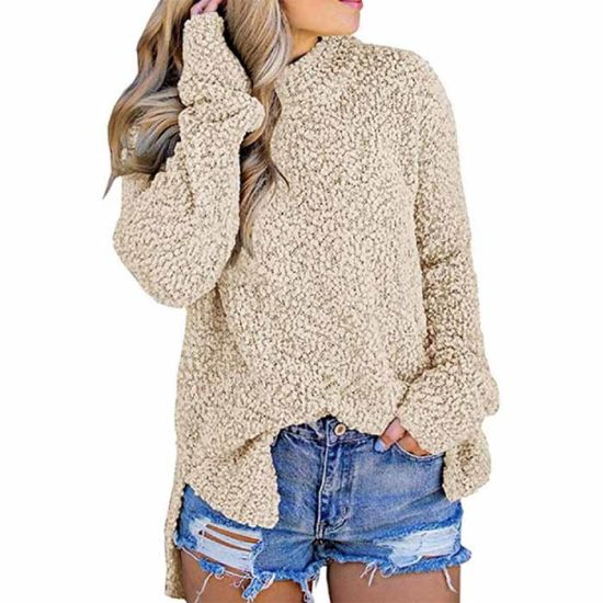 Wholesale New Design Autumn Woman Popcorn Pullover