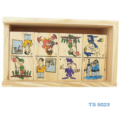 Children Intelligence Game Wooden Domino pictures & photos