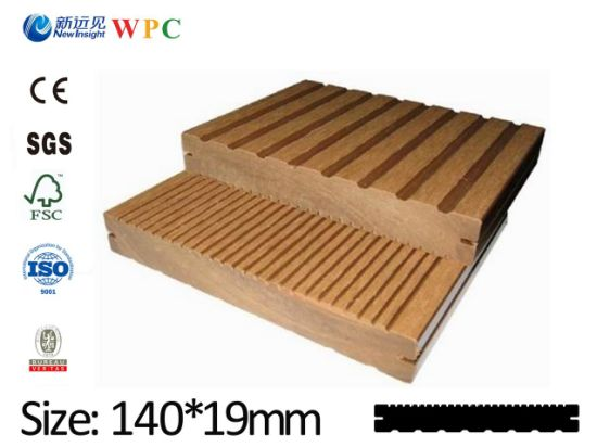 Waterproof Antiseptic Outdoor Decking Plastic Wood Decking, WPC Decking Long Life Paint Free