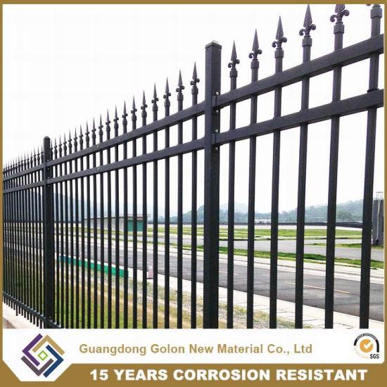 Professional Wrought Iron Aluminum Permanent Garden Fence Panel