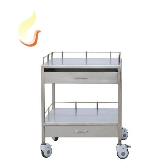 Hospital Stainless Steel Treatment Nursing Trolley/Cart