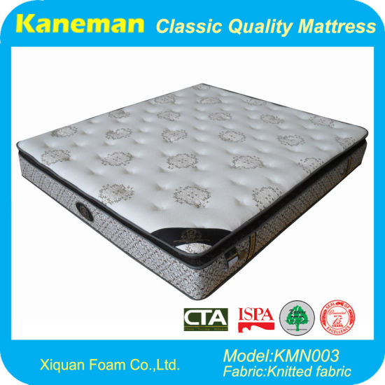 Luxury Euro Pillow Top Spring Mattress (KMN003)