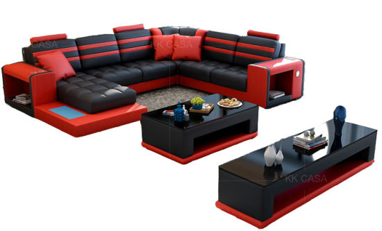 U Shaped Couch Living Room Sofas Black