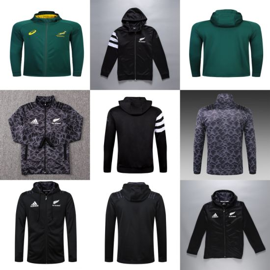 Wholesale All Blacks South Africa Putian Rugby Jackets Hoodies