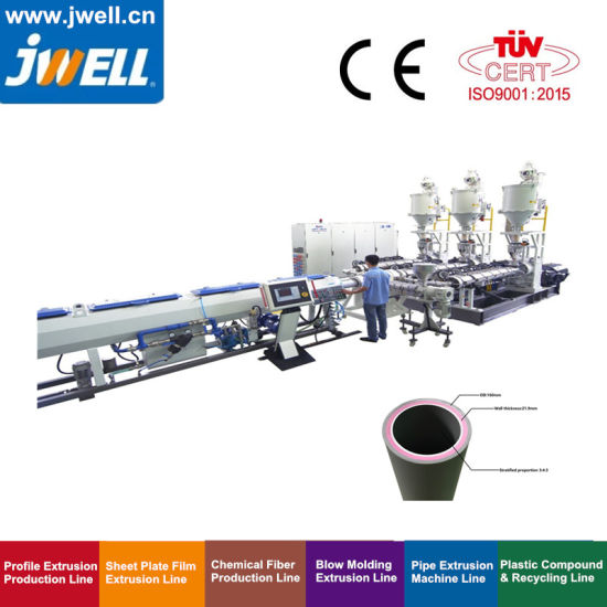 Jwell Single or Muti-Layer Small Diameter Pert/Pex/PA/PP/PPR Pipe Extrusion Equipment