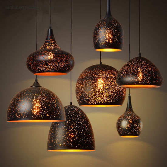 Iron Metal Rust Etching Lampshade Pendant Lamp Lights Linghting Ceiling Fixtures