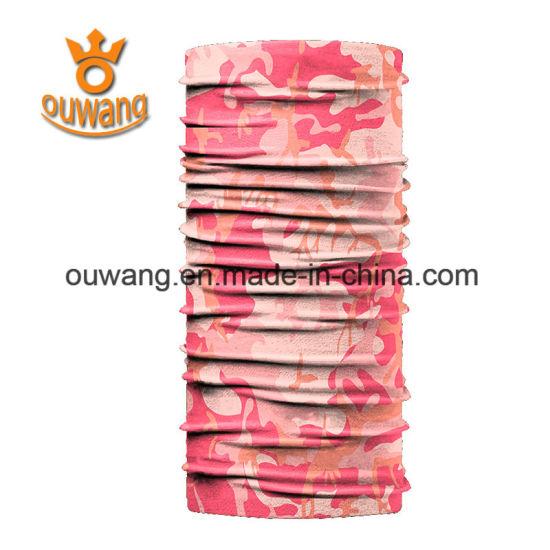 Custom Seamless Tube Scarf Microfiber Polyester Multifunctional Bandana Tubular Headwear for Outdoor Sports