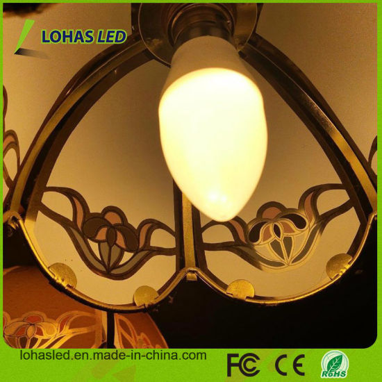 America Hot Sale LED Candle Light E12 6W 110V Candelabra Dimmable LED Candle Bulb pictures & photos