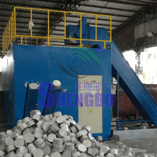 Hydraulic Automatic Aluminum Foil Debris Dust Granules Briquette Machine pictures & photos