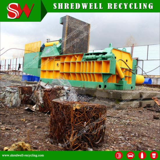 Automatic Hydraulic Scrap Metal Baler for Recycling Waste Steel/Aluminum/Iron pictures & photos