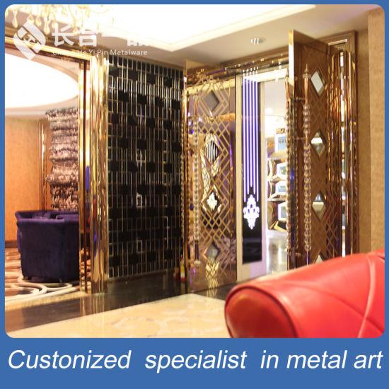Fatactry Manufactre Golden Shining Steel Interior Door For KTV Culb