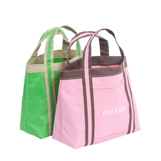 Custom High Quality Pink Green Oxford Tote Bag