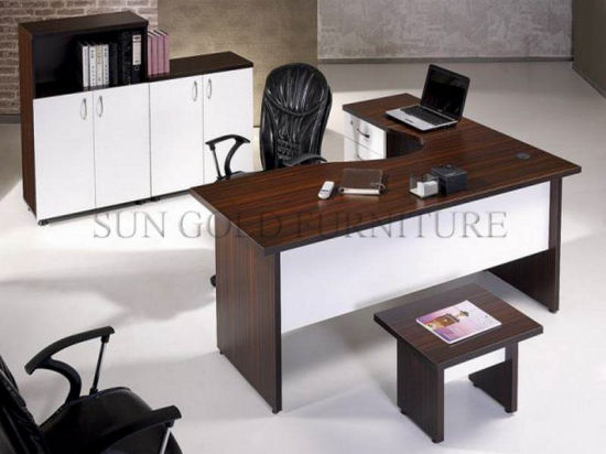 Nice High Tech Modern Director Office Desk Veneer Office Desk (SZ ODT702)
