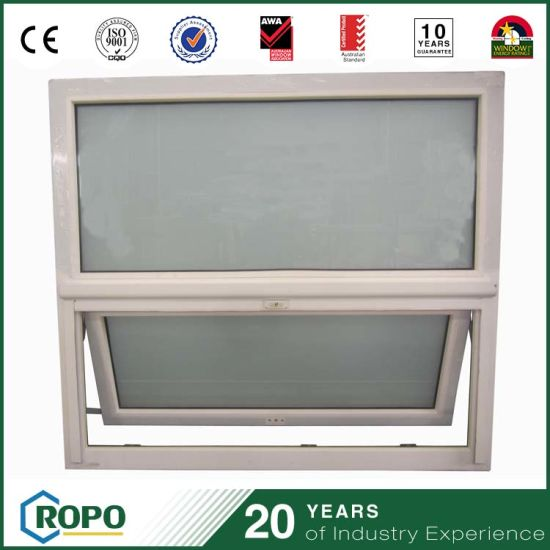 UPVC Waterproof Frosted Glass Bathroom Windows In China