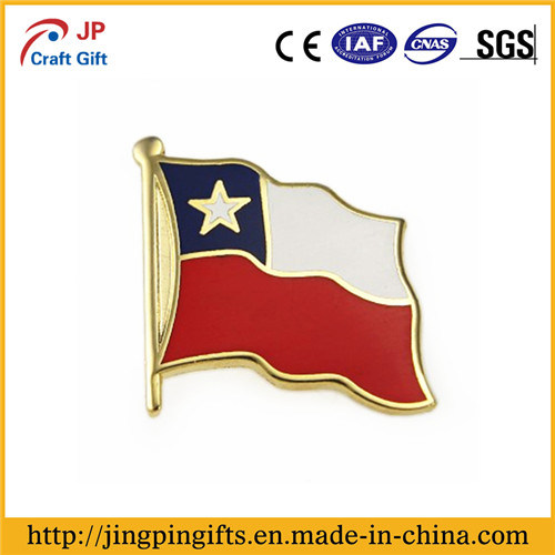 Custom National Flag Shape Metal Lapel Pin Badge pictures & photos