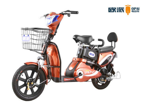 Ce/EEC/DOT Electric Moped Scooter 350W Pedal 1: 1 with Big Soft Saddle pictures & photos