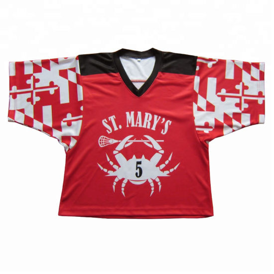 ce925ddf Custom Made Dye Sublimation Printing Lacrosse Shooter Shirt Manufacturer